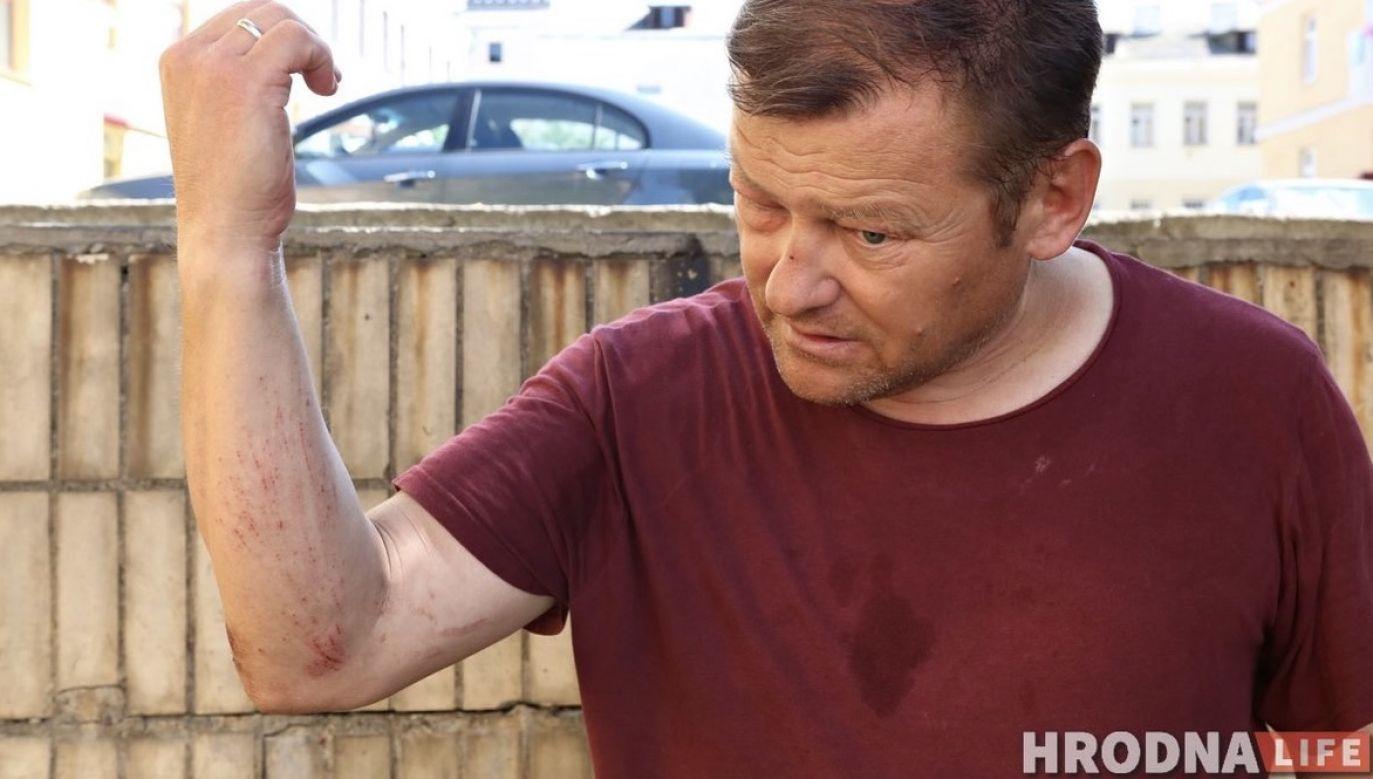 Jan Roman trafił do szpitala (fot. Hrodna.life)
