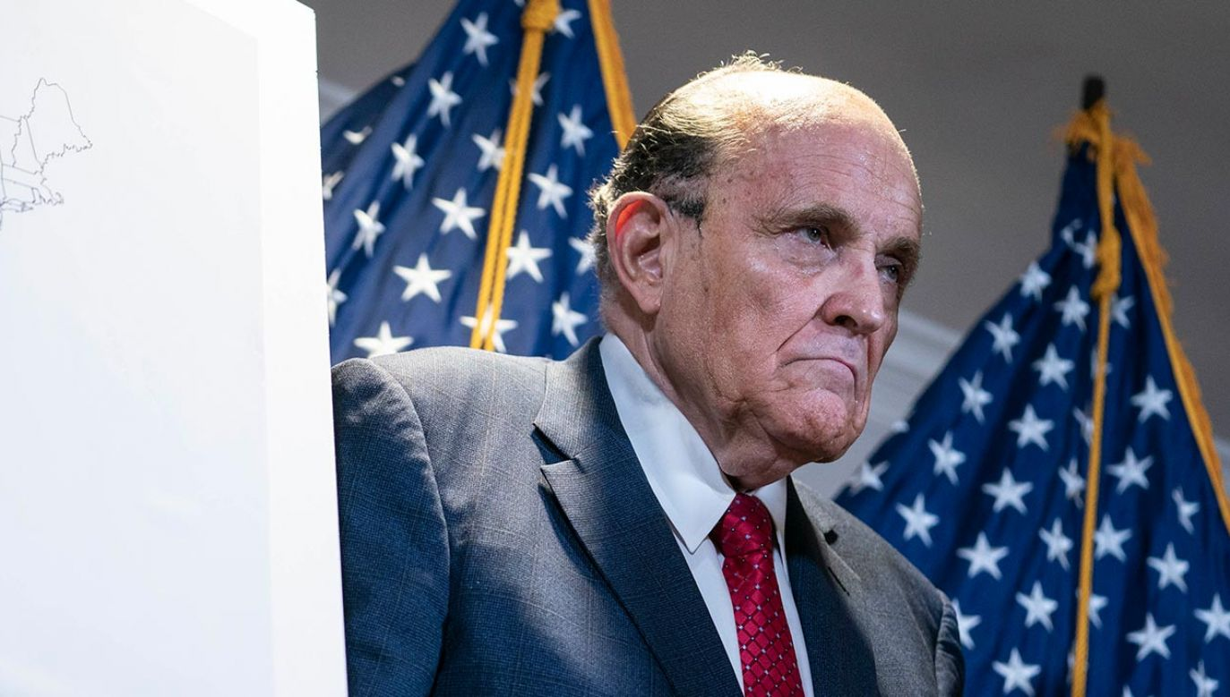 Prawnik Prezydenta Trumpa, Rudy Giuliani, został pozwany (fot. Sarah Silbiger for The Washington Post via Getty Images)