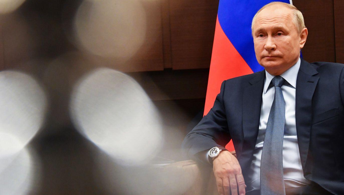 Prezydent Rosji Władimir Putin (fot. PAP/EPA/Y.BIYATOV/SPUTNIK/KREMLIN POOL)