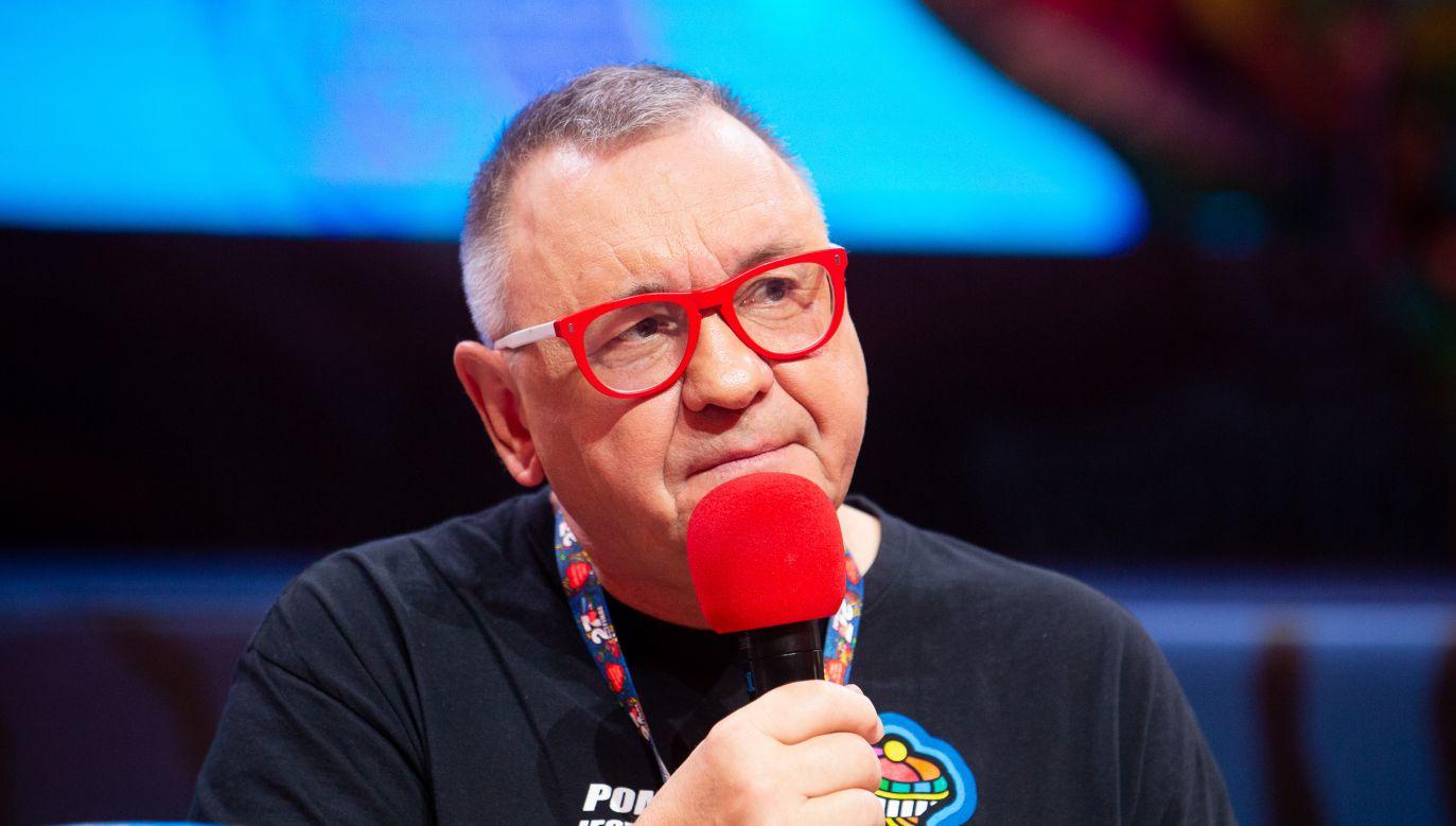 Lider WOŚP Jerzy Owsiak (fot. Mateusz Wlodarczyk/NurPhoto via Getty Images)