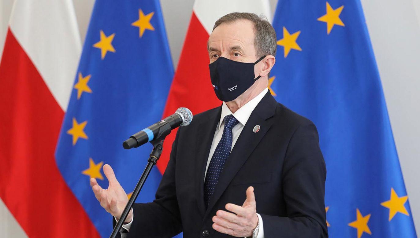 W ocenie marszałka Senatu Tomasza Grodzkiego w każdej partii jest trochę fermentu (fot. PAP/Paweł Supernak)
