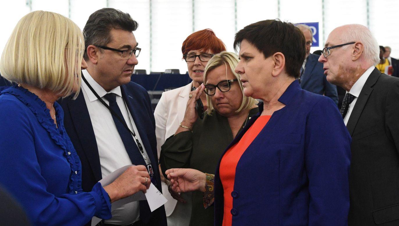 Europoseł został zapytany, czy wystawienie po raz drugi tej samej kandydatki nie wiązało się z ryzykiem (fot. PAP/Radek Pietruszka)