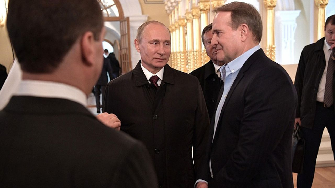 Wiktor Medwedczuk jest przyjacielem prezydenta Rosji Władimira Putina (fot. Kremlin.ru)