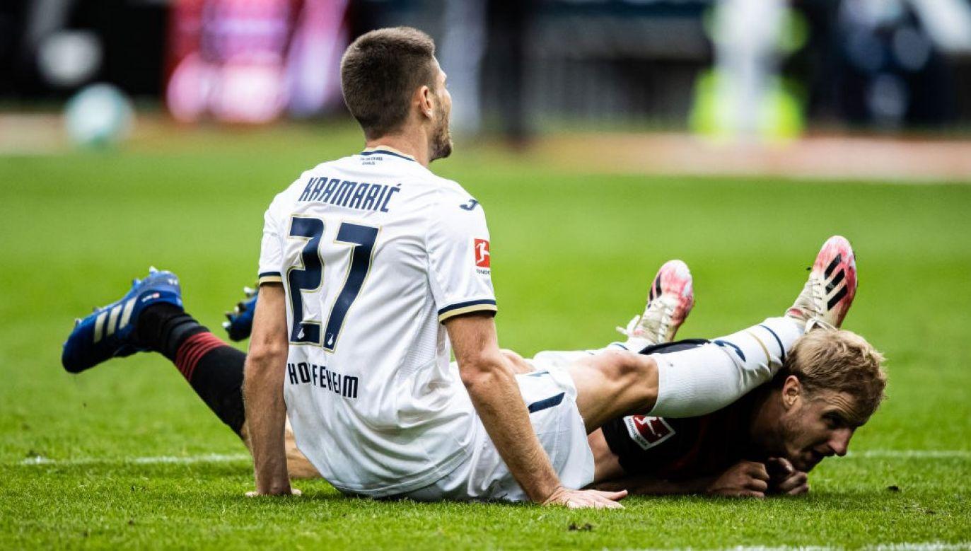 Wg mediów jeden z dwóch piłkarzy Hoffenheim zakażonych koronawirusem to Andrej Kramarić (fot. Simon Hofmann/Bundesliga/Bundesliga Collection via Getty Images)