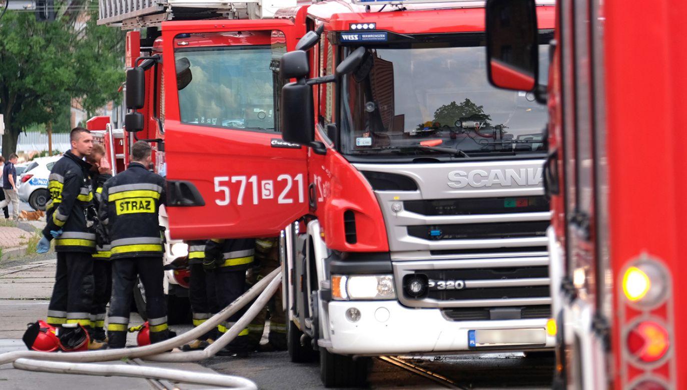 Przyczyny pożaru nie są jeszcze znane (fot. PAP/Andrzej Grygiel)