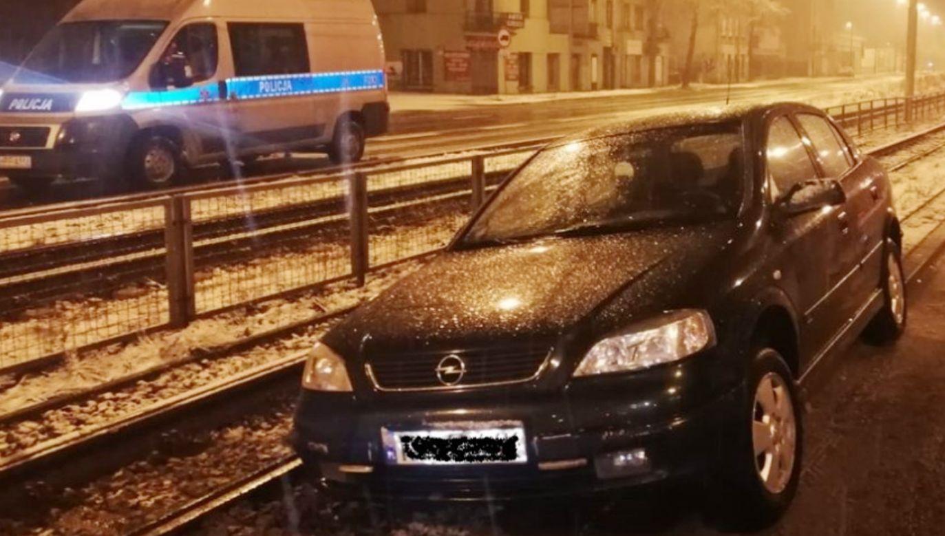 Mieszkaniec Łodzi stracił prawo jazdy (fot. Policja)