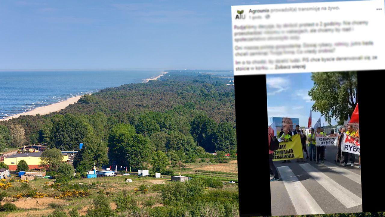 Pięć godzin trwała blokada drogi na Półwysep Helski przez armatorów rybołówstwa rekreacyjnego(fot. Shutterstock; Facebook)