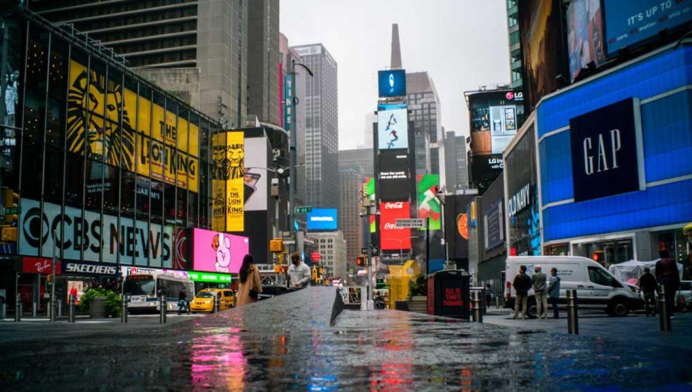 Opustoszałe ulice Nowego Jorku (fot. Eduardo MunozAlvarez/VIEWpress)
