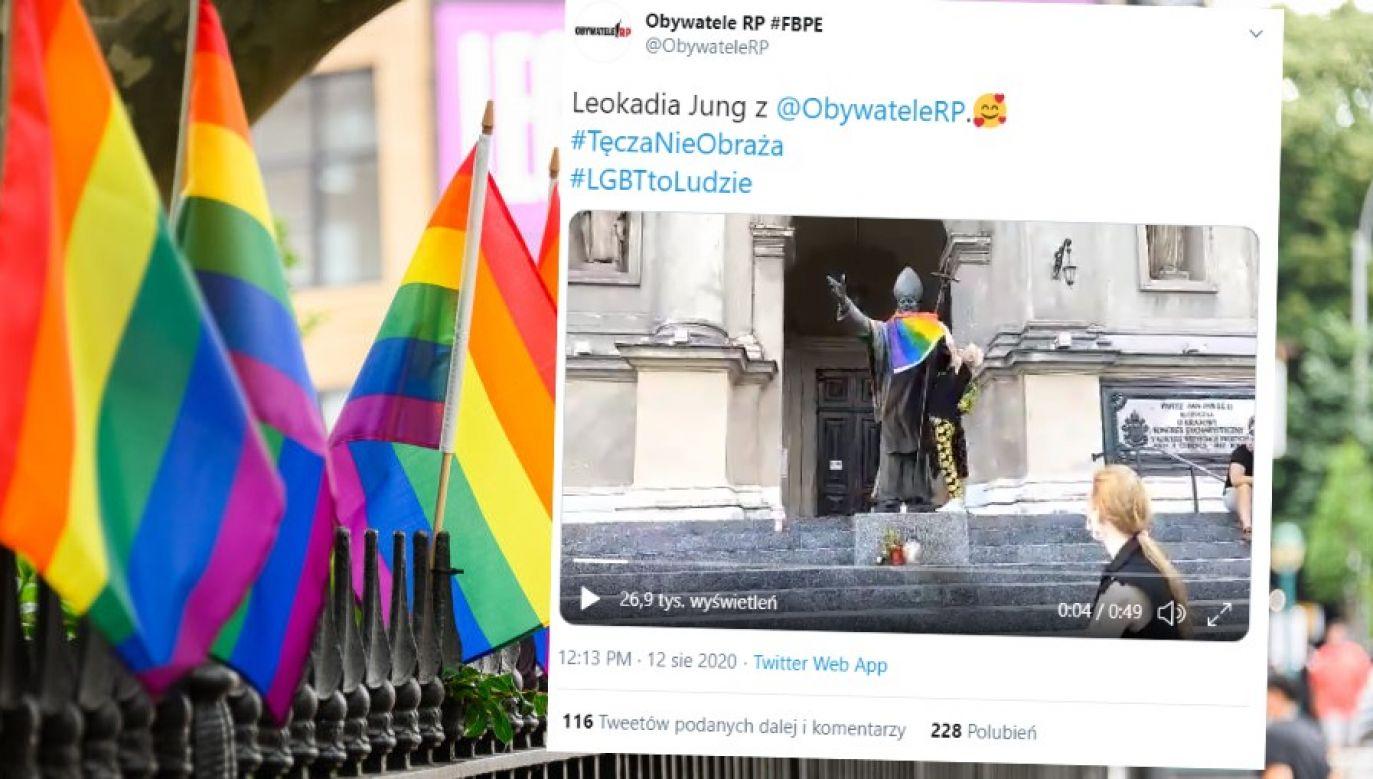 Prowokacje nie ustają (fot. Noam Galai/Getty Images; Twitter/Obywatele RP)