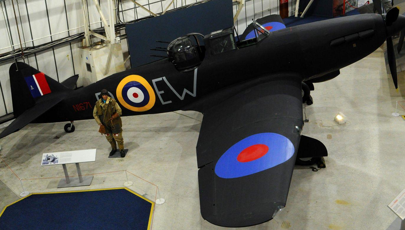 Samolot Dywizjonu 307 w Muzeum Królewskich Powietrznych Sił Zbrojnych (fot. Shutterstock/ David JC)