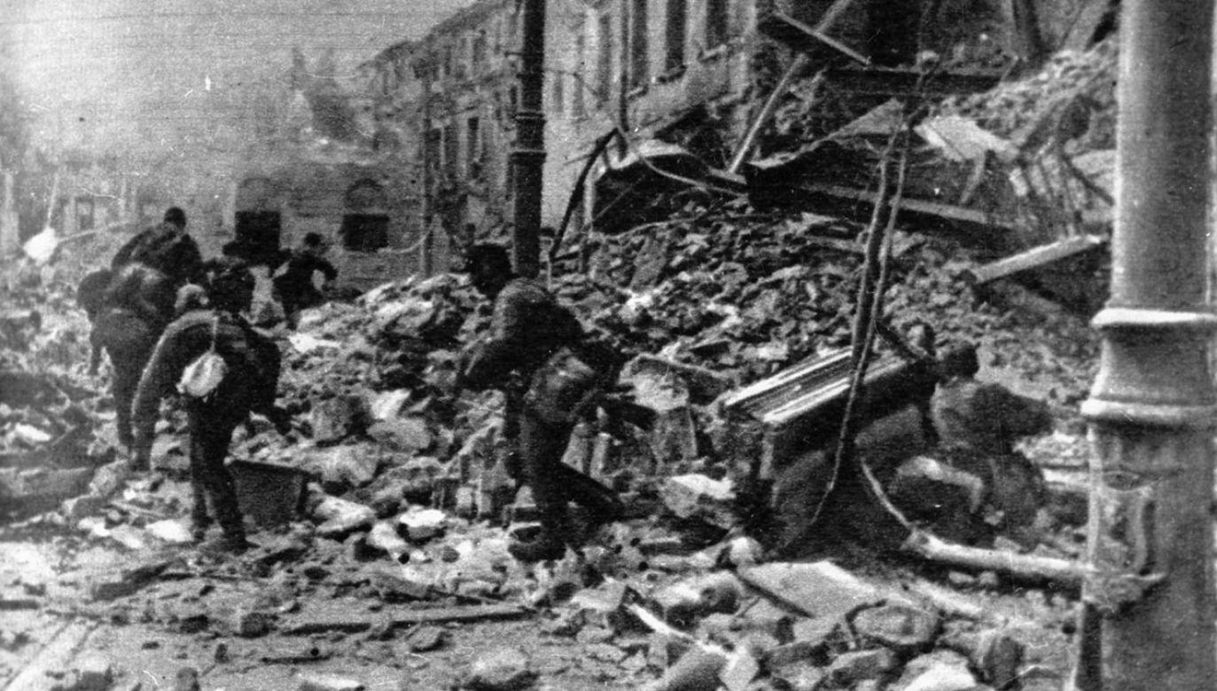 Akcja wyniszczania miasta była odpowiedzią na wybuch Powstania Warszawskiego, ale jej przyczyny tkwią w ideologii niemieckiego nazizmu (fot. PAP/CAF)