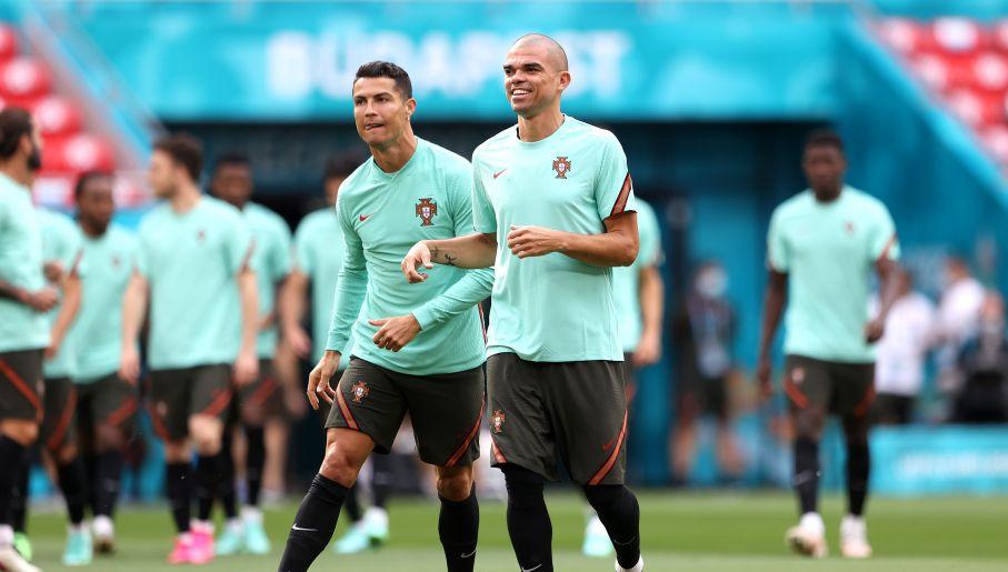 Cristiano Ronaldo i Pepe (fot. Getty)