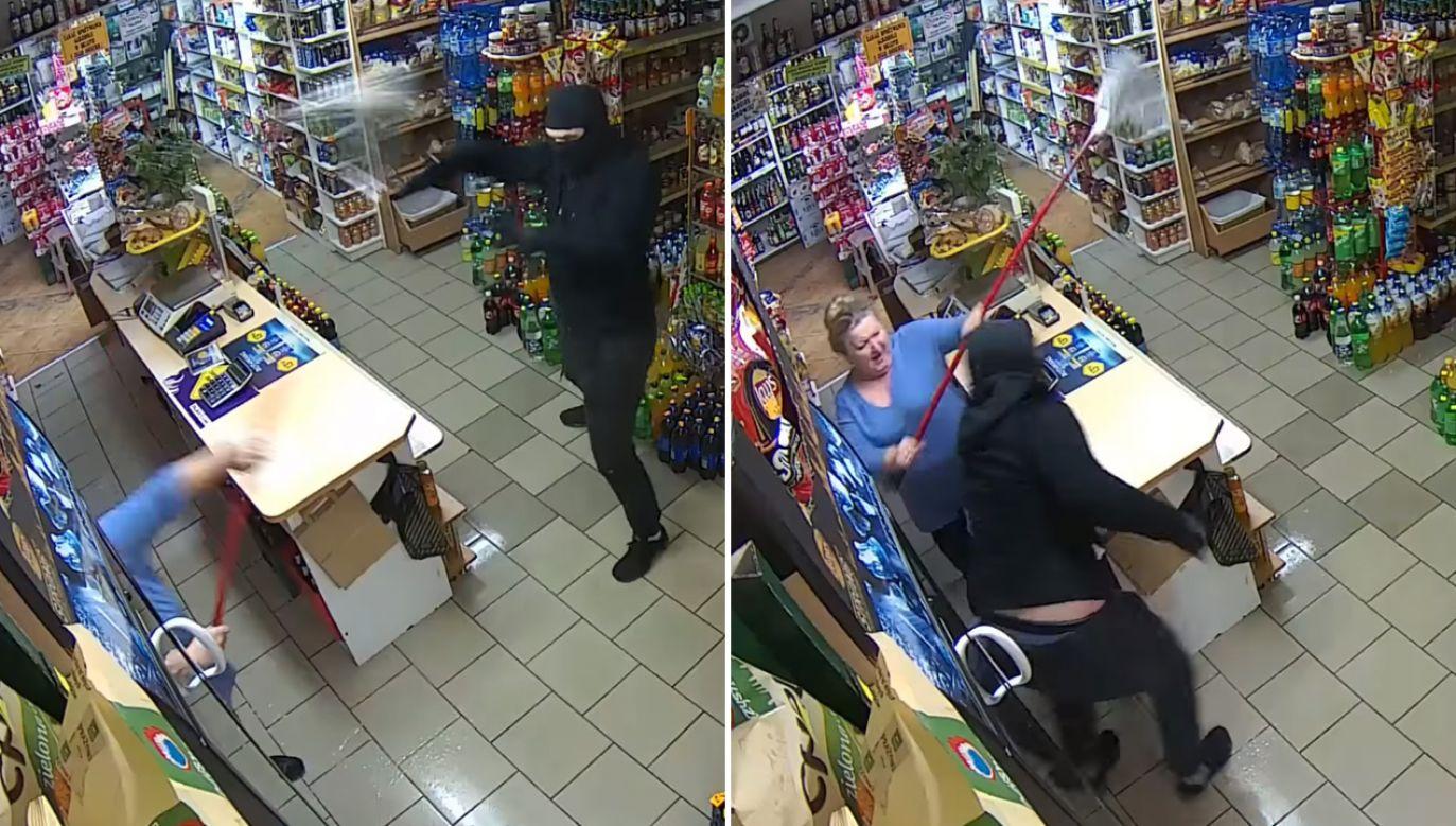 Złodziej zdążył jedynie ukraść trzy paczki papierosów (fot. Facebook/Kociewiak.pl)