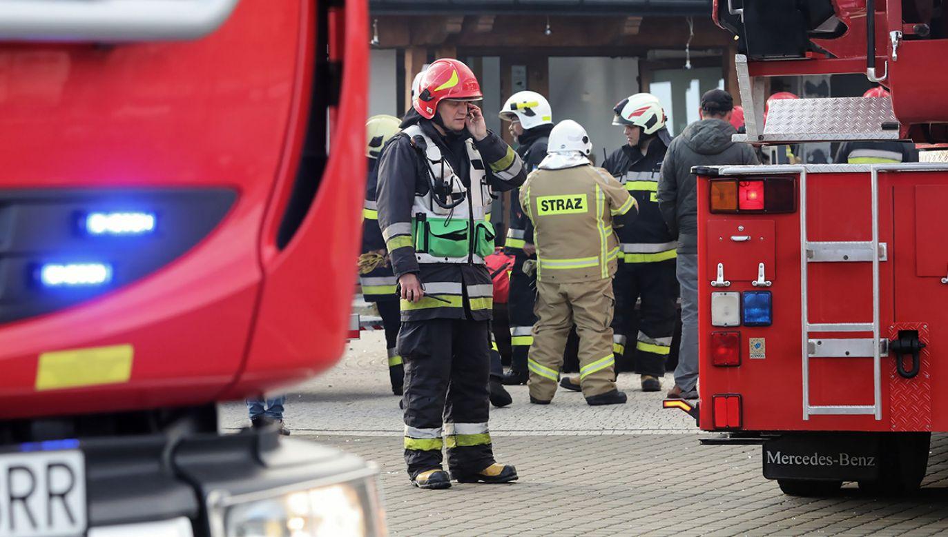 Ewakuowano łącznie ok. 80 osób (fot. arch.PAP/Grzegorz Momot)