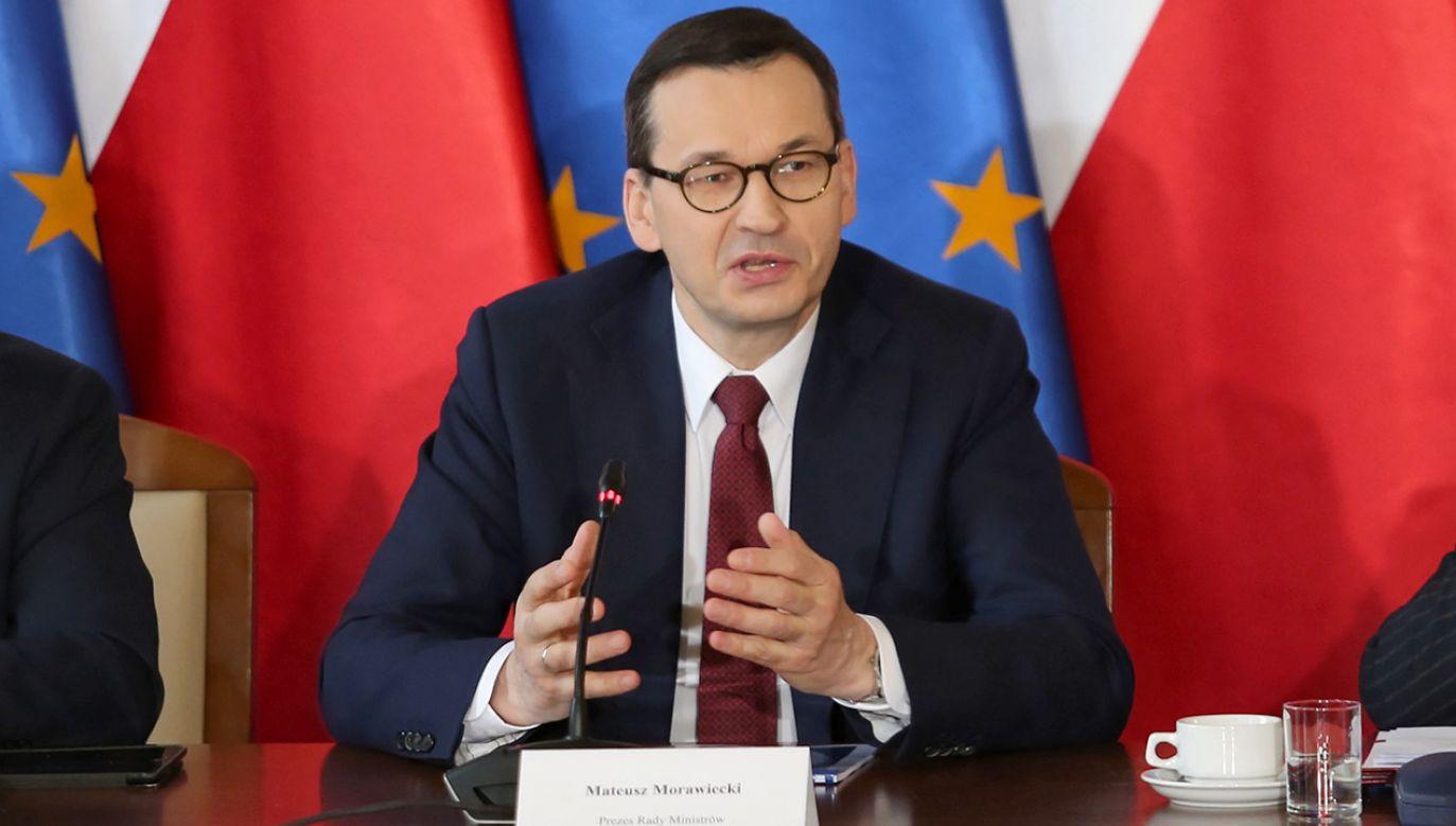 Szef rządu rozmawiał z przewodniczącym Rady Europejskiej i premierem Chorwacji (fot. PAP/EPA/MARCO OTTICO)