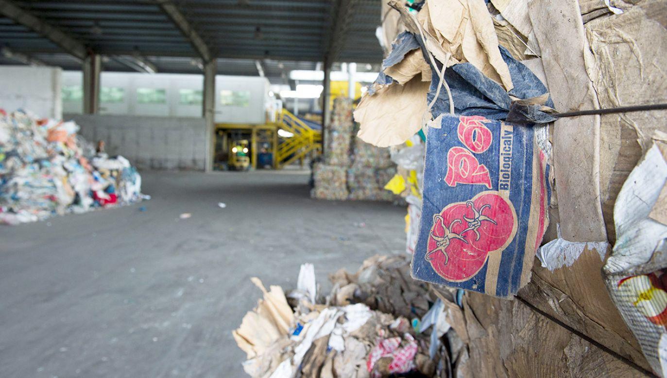 Sortownia odpadów komunalnych przy ul. Zamiejskiej w Łodzi (fot. arch.PAP/Grzegorz Michałowski)