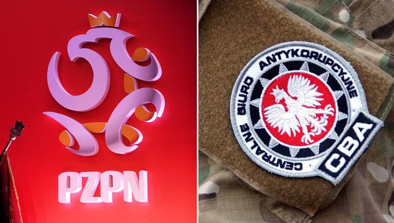 W głównej siedzibie PZPN zjawiło sięrano kilkunastu agentów CBA (fot. PAP/Bartłomiej Zborowski; CBA)