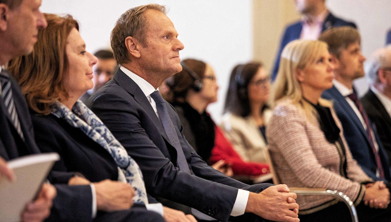 """Czy """"negatywny elektorat"""" – jak sam mówił o swojej kandydaturze – Donalda Tuska nie przeszkodzi w kampanii Małgorzaty Kidawy-Błońskiej? (fot. arch.PAP/Jan Graczyński)"""
